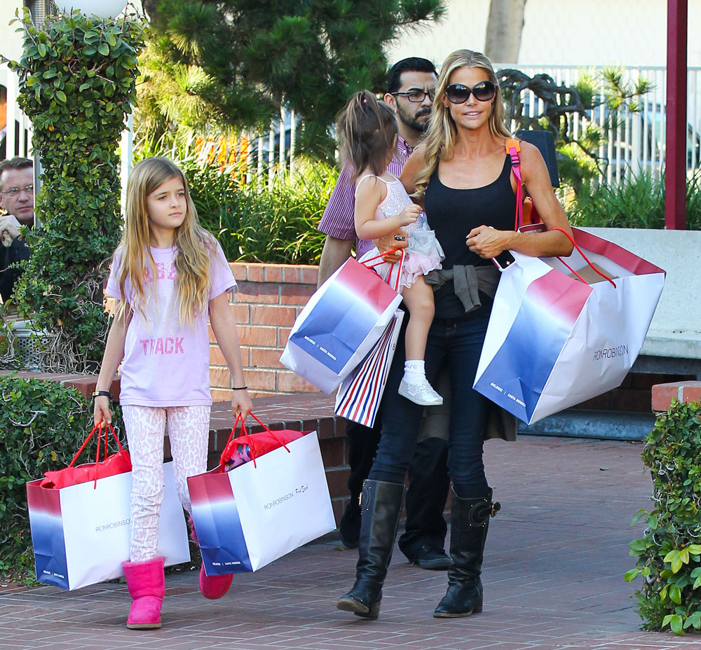 Denise Richards Shops At Fred Segal With Her Daughters