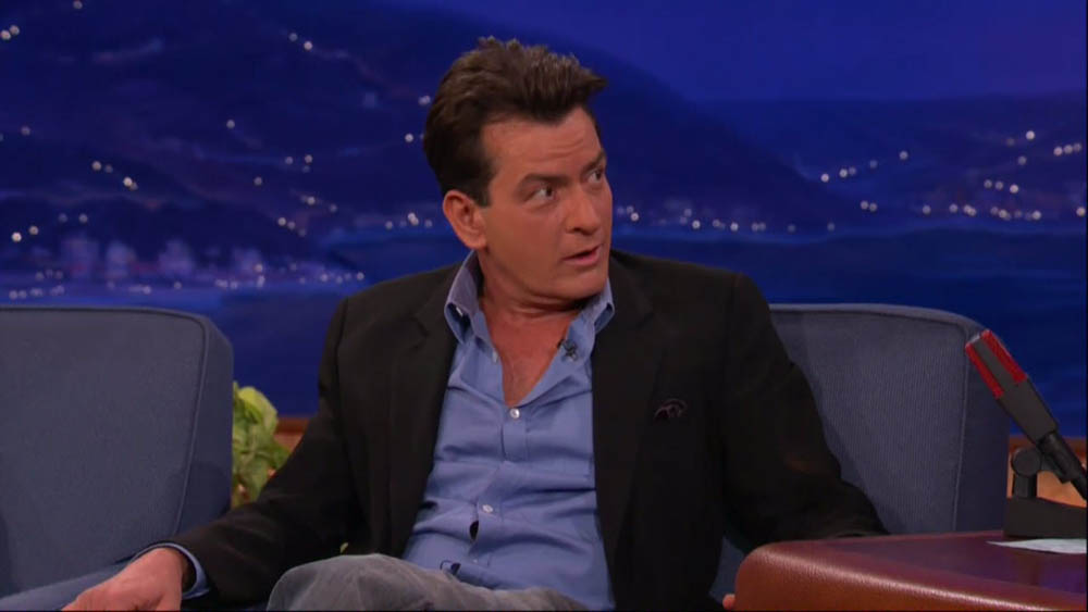 Charlie Sheen appears as a guest on Conan