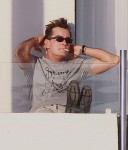 Charlie Sheen Partying On His Balcony In Cabo