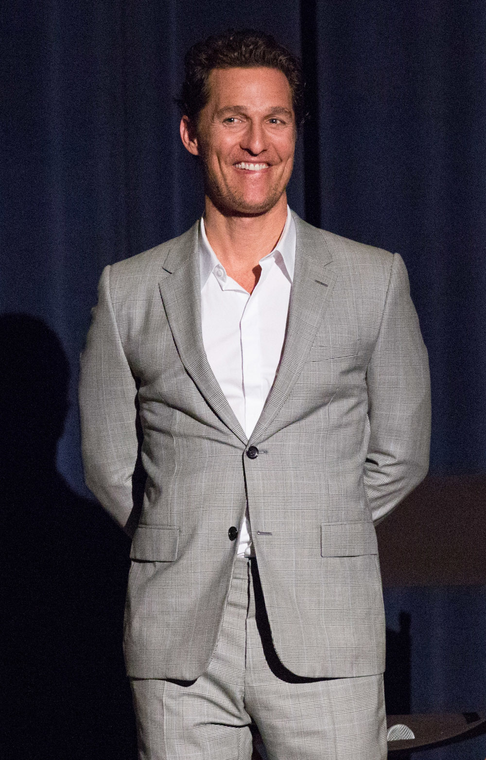 Matthew McConaughey attends a Q&A session for Dallas Buyers Club and