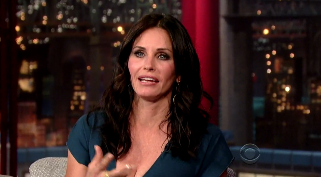 The look on their faces was just priceless  Courteney