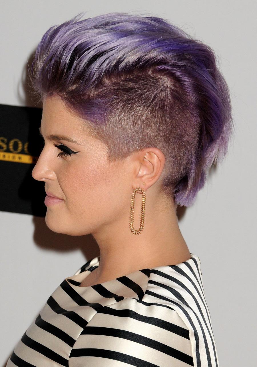 Cele|bitchy | Kelly Osbourne now has a lavender mohawk ...