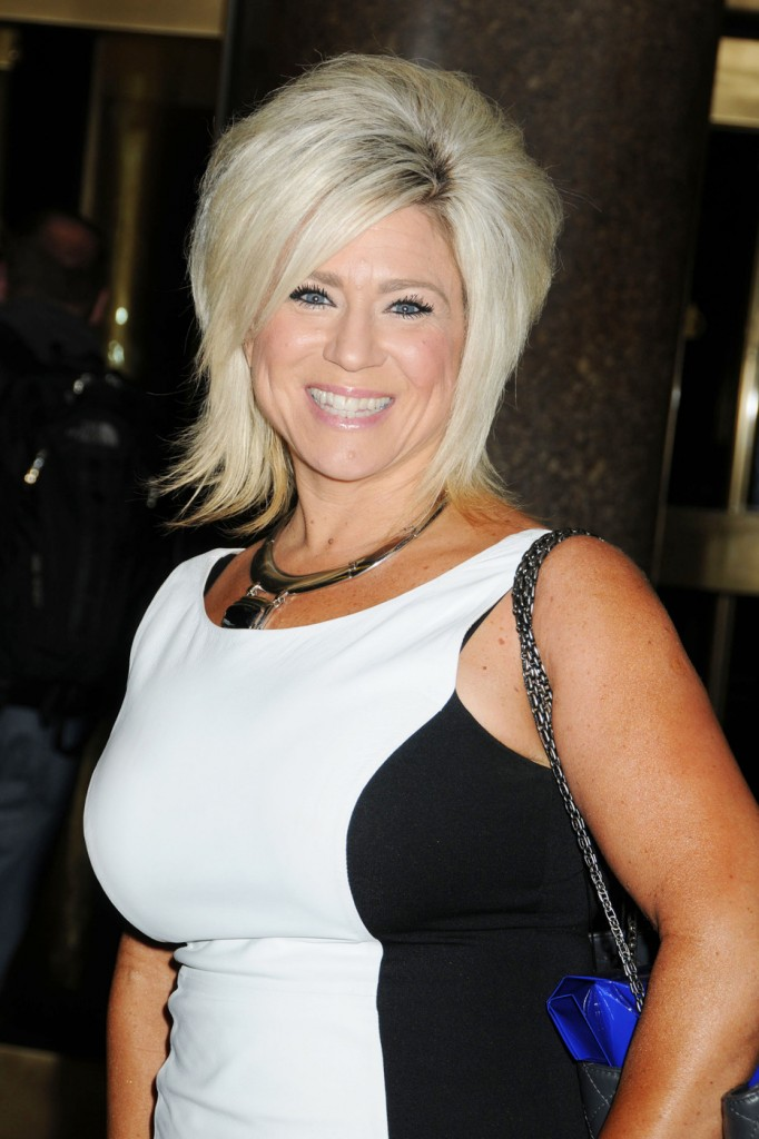 Medium Theresa Caputo of the television show 'Long Island Medium' is spotted as she leaves 'Late Night With Jimmy Fallon'  at NBC studio in New York City