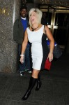"Medium Theresa Caputo of the television show ""Long Island Medium"" is spotted as she leaves ""Late Night With Jimmy Fallon""  at NBC studio in New York City"