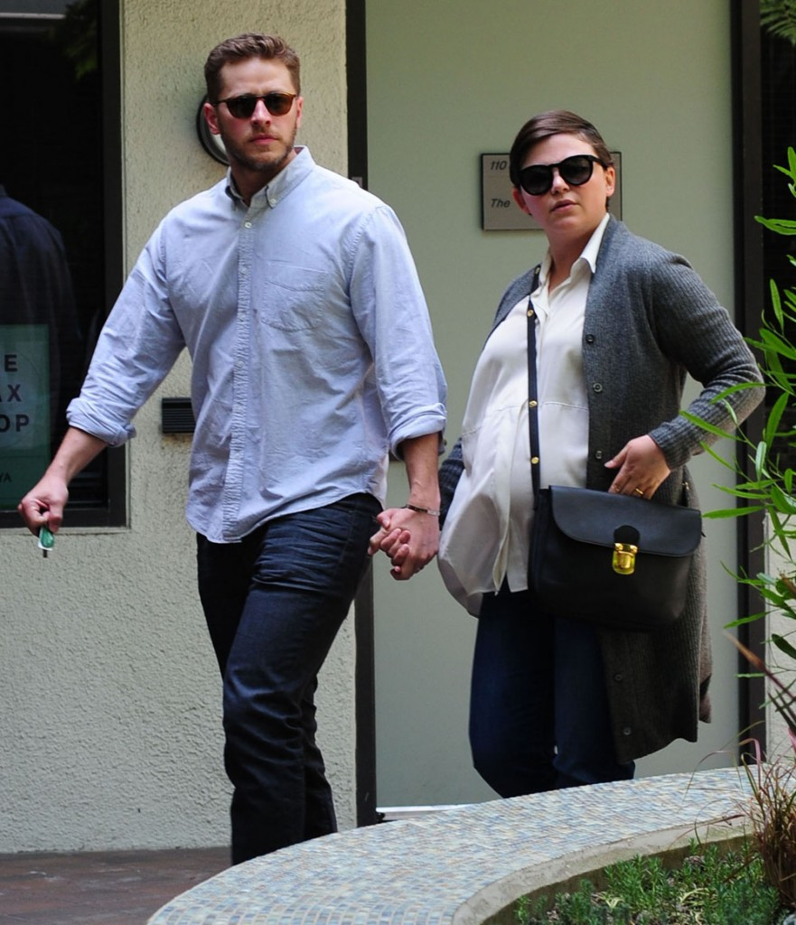 Exclusive... Pregnant Ginnifer Goodwin & Josh Dallas Stop By A Medical Clinic