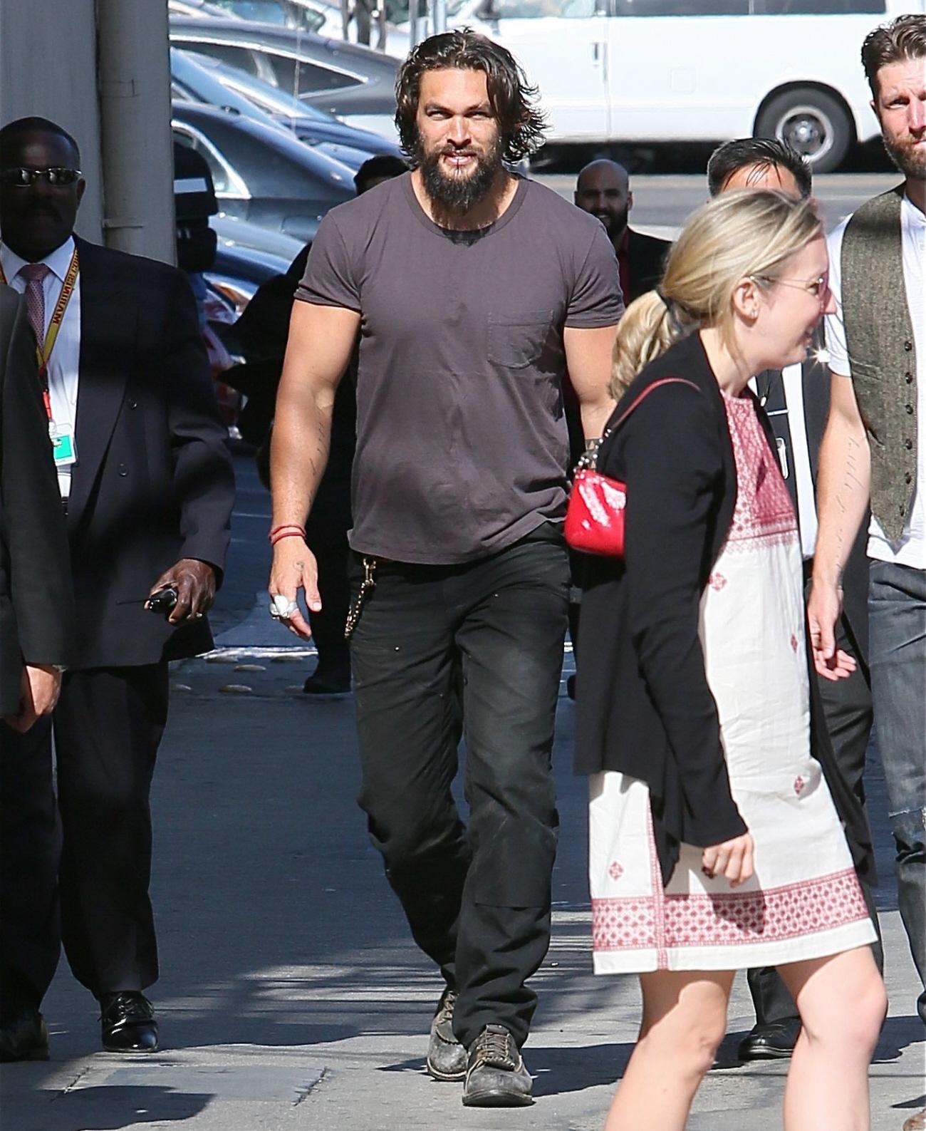 Jason Momoa Looked Amazing On Jimmy Kimmel