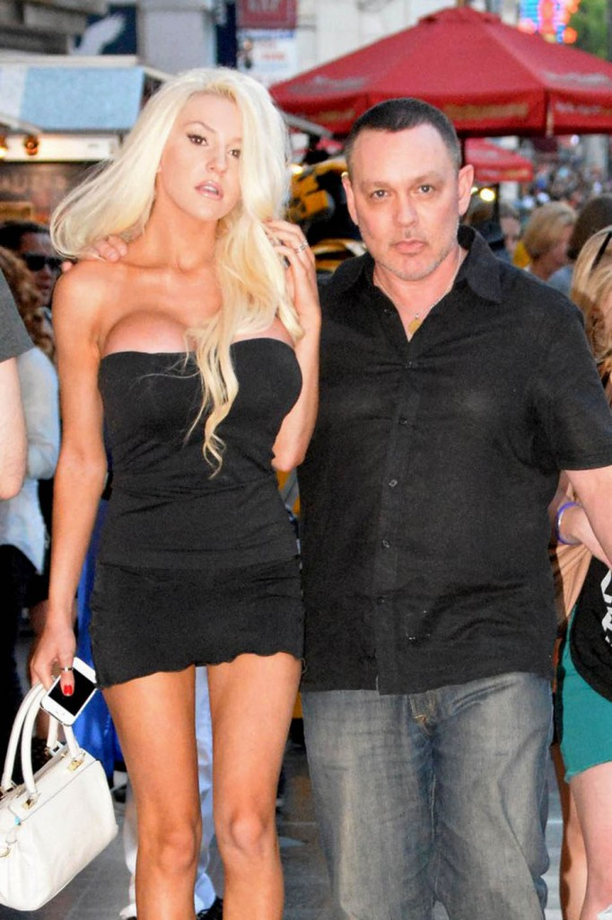 Courtney Stodden turns heads on Hollywood Blvd in a very revealing outfit as she heads to the Hard Rock Cafe with her husband Doug Hutchison