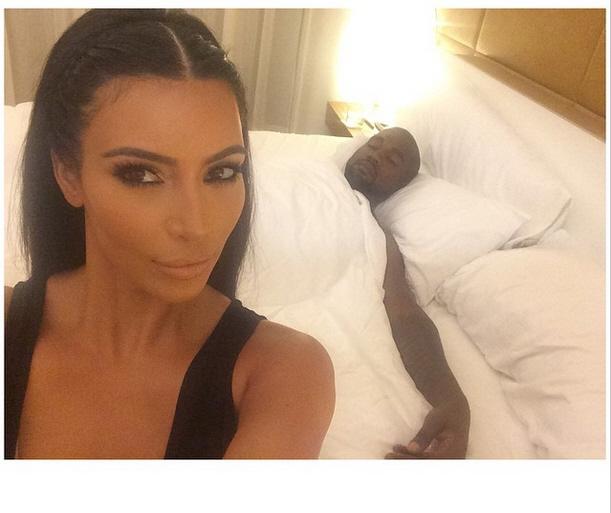 Kim Kardashian posts photo of Kanye West sleeping, for all the side chicks