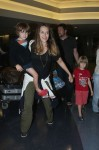 Brooke Mueller and her children at Los Angeles International Airport (LAX)