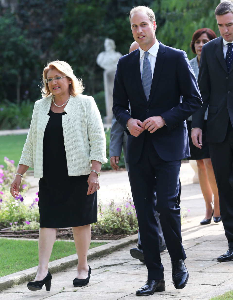 Prince William tours Malta with Duchess Kate's assistant Rebecca Deacon