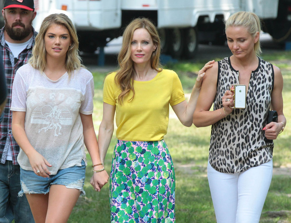 Stars On The Set Of 'The Other Woman'