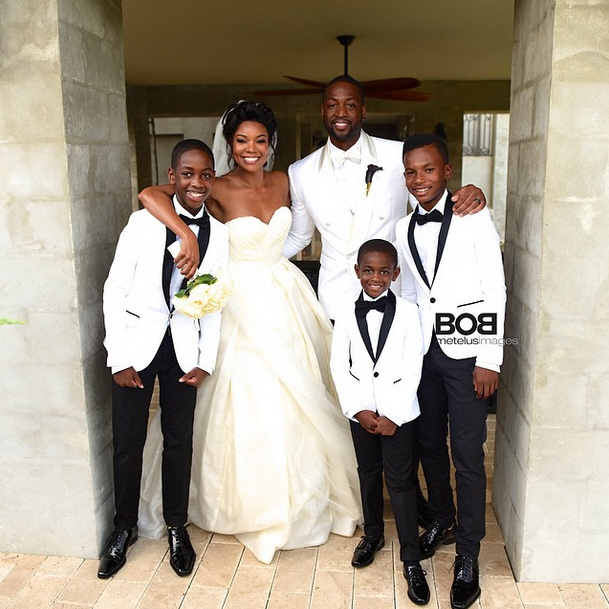"""Gabrielle Union posts some wedding photos on her Instagram"" links"