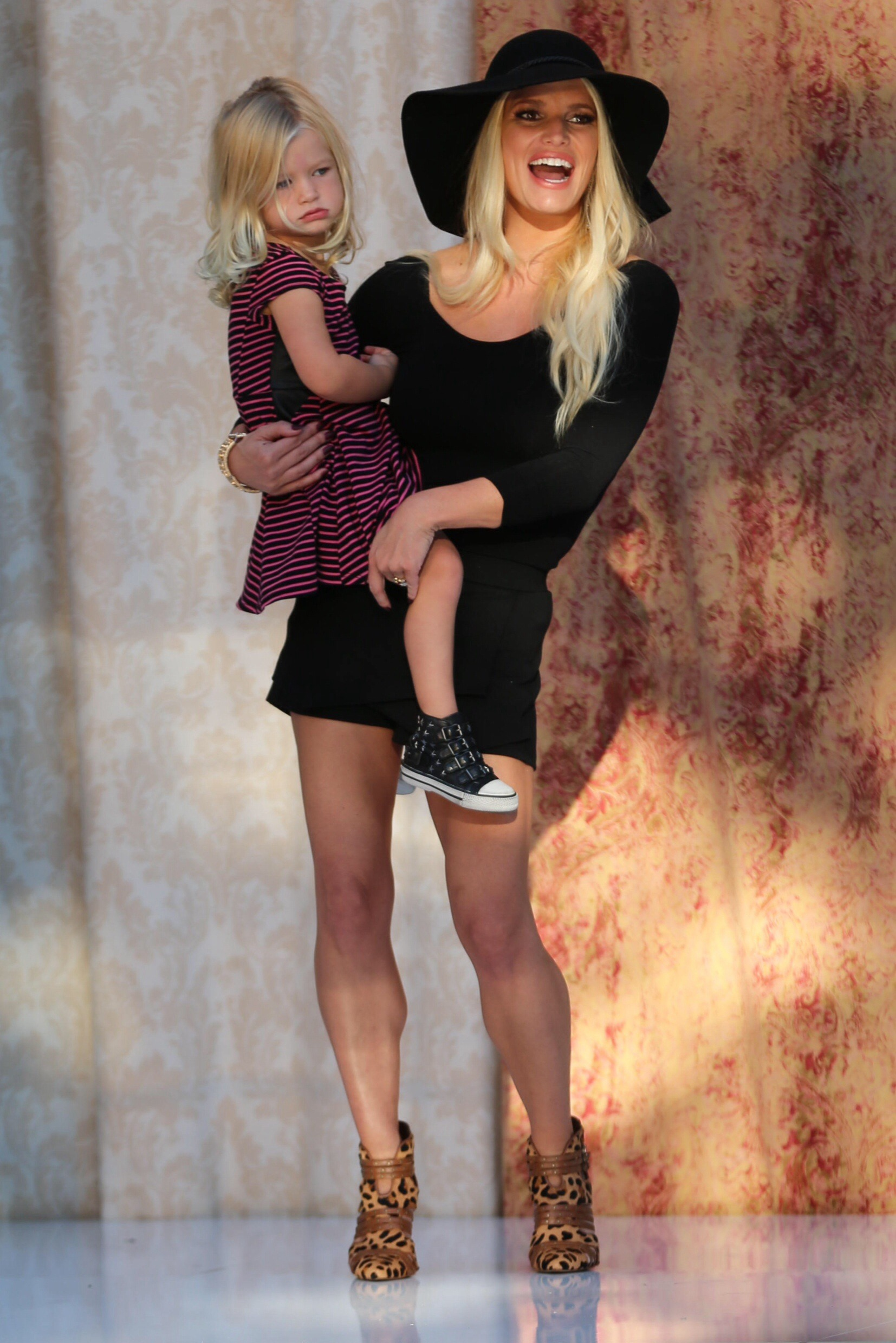 Jessica Simpson appears at the Norstrom fashion show at the Grove.