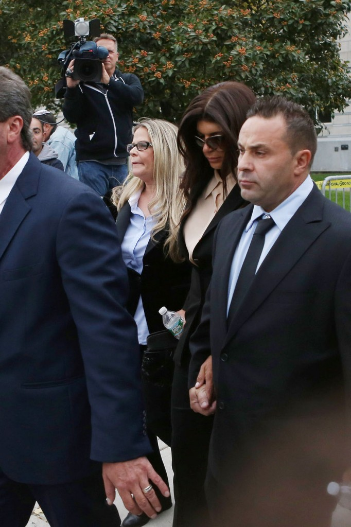 Teresa and Joe Giudice seen leaving the Federal Courthouse in Newark, New Jersey