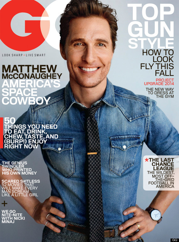Matthew McConaughey covers GQ, talks God, rom-coms & the 'Redskins' name