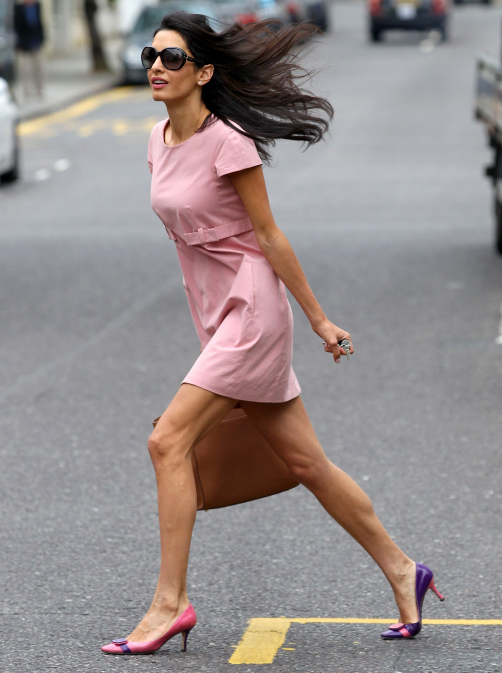 Cele|bitchy | Amal Clooney took her husband to the Savoy ...