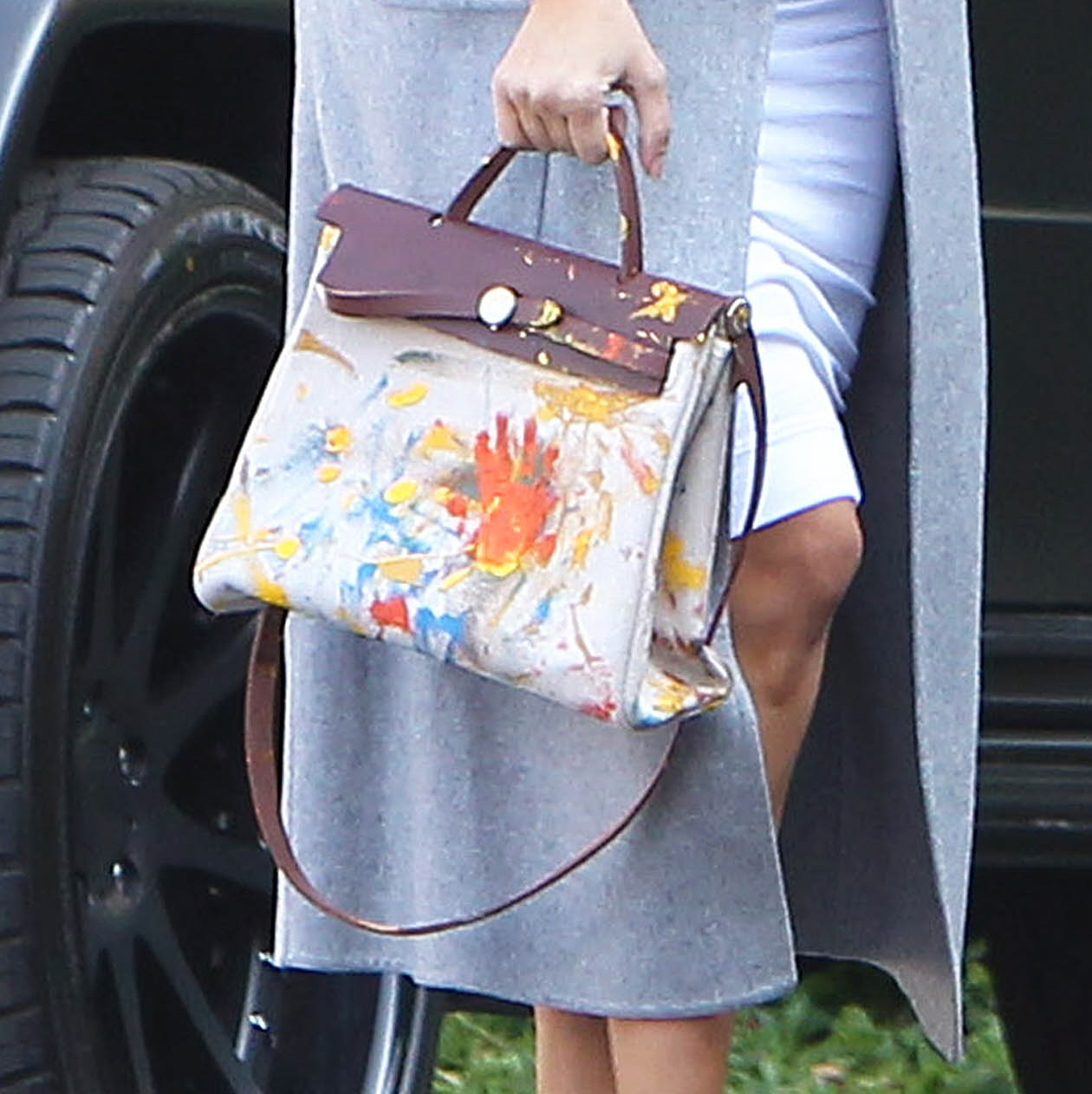 replico hermes - Cele|bitchy | Kim Kardashian shows off the Birkin bag that North ...
