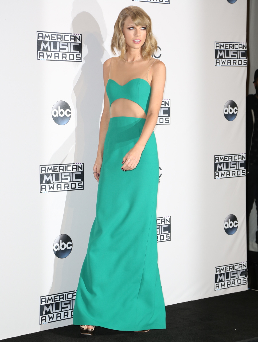 Taylor Swift in green Michael Kors at the AMAs: cute or overrated?