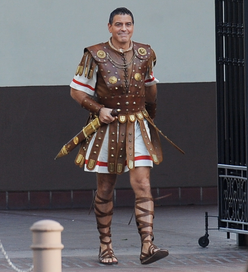 Hail Caesar filming in L A - George Clooney on the set Wenn21985841