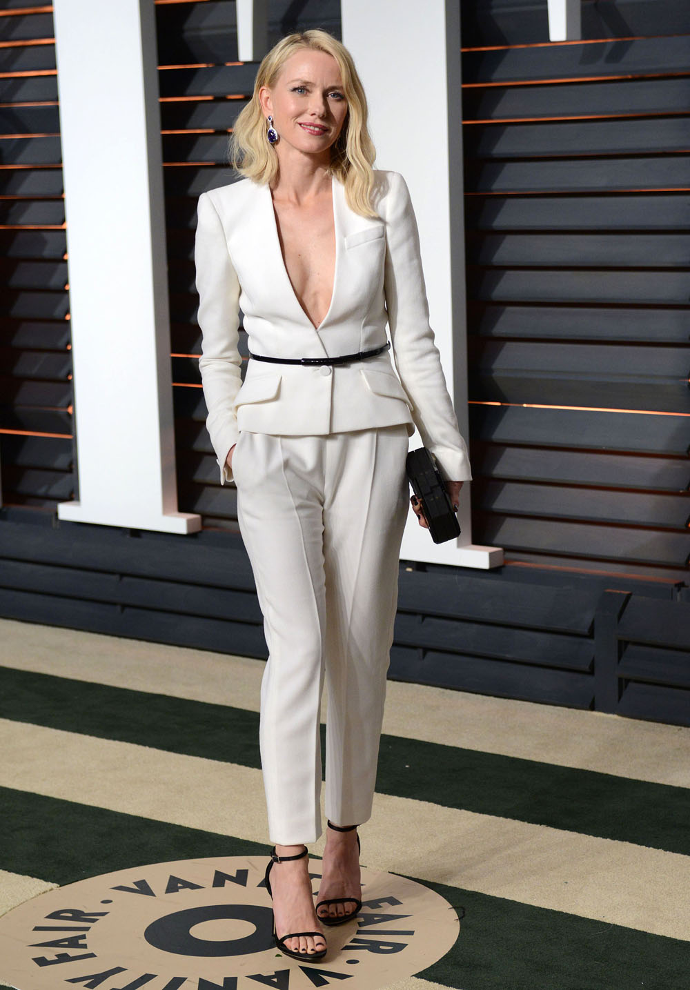 cele bitchy naomi watts in a white armani suit at the vf oscar 2015 vanity fair oscar viewing party c
