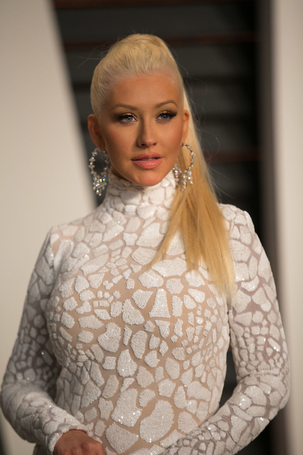 Cele Bitchy Christina Aguilera In Marc Bouwer At The Vf