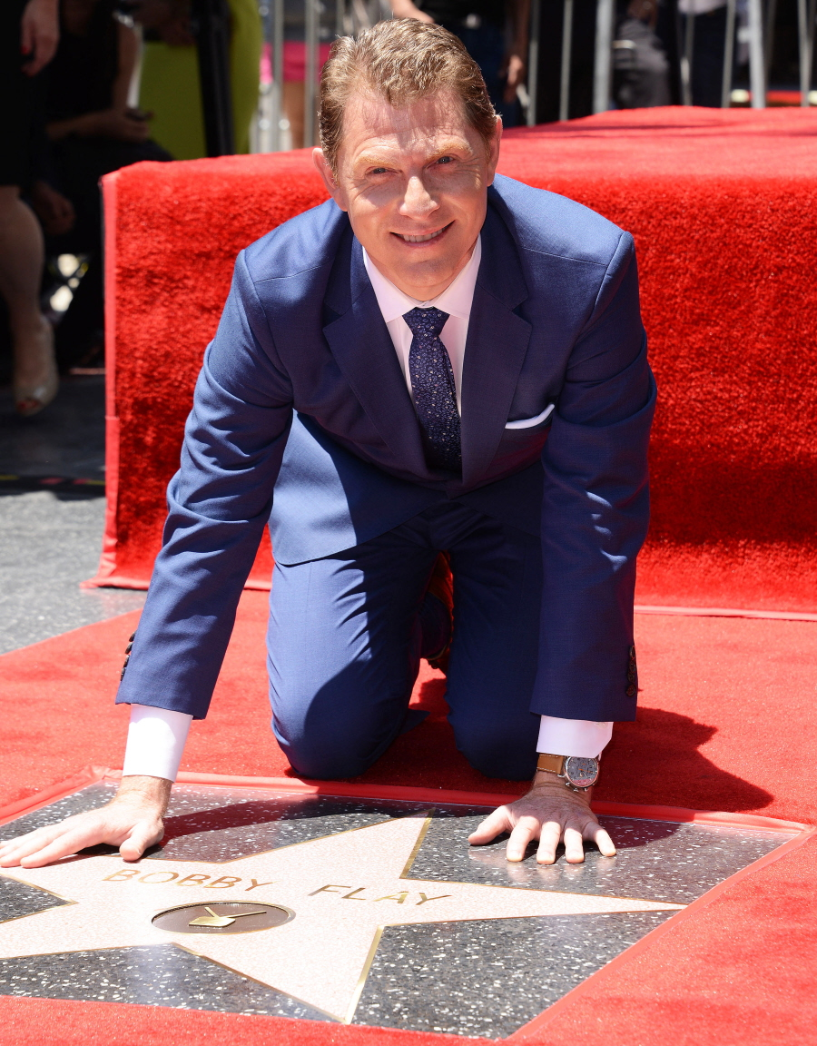 cele bitchy bobby flay gets walk of fame star as