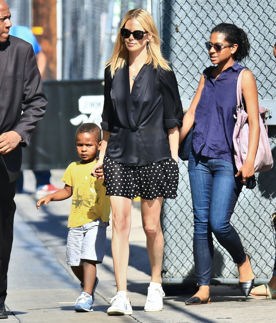 Cele bitchy charlize theron adopted a newborn baby girl named august