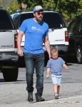 Ben Affleck & Jennifer Garner Take Their Kids To Church After The Farmer's Market