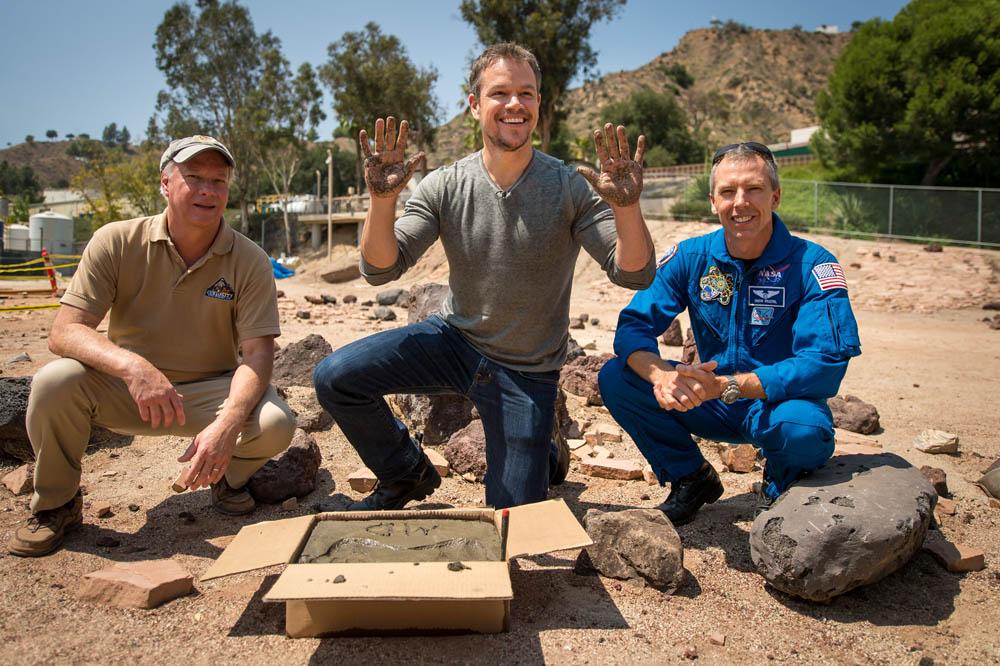 Matt Damon Talks With NASA