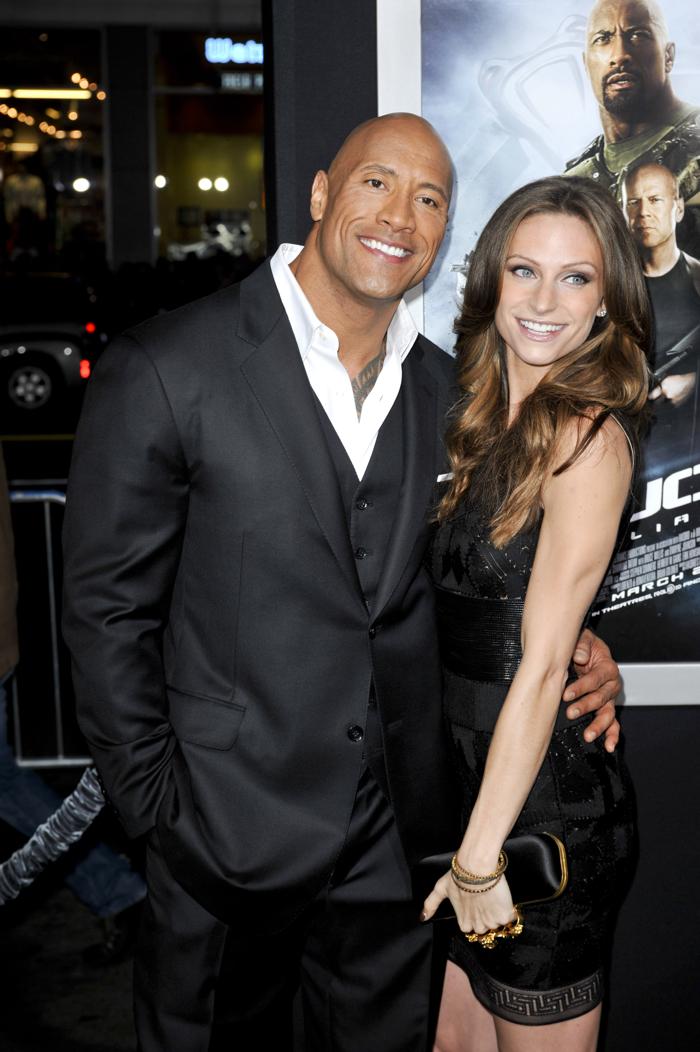 The Rock with his current partner Lauren