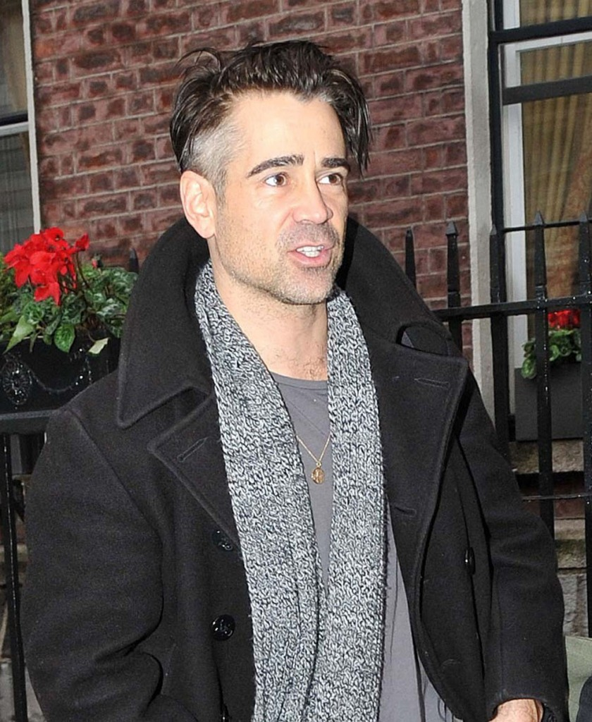 Exclusive... Colin Farrell Is Going Grey In Dublin