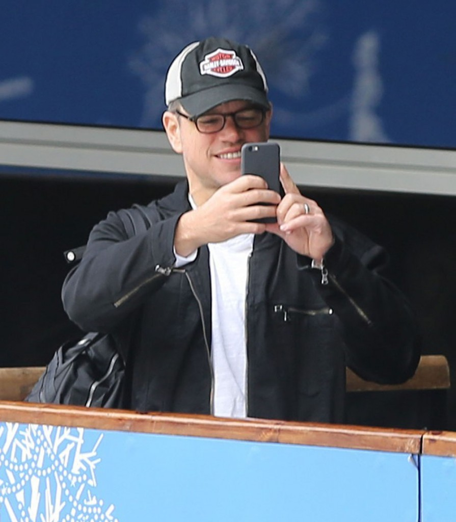 Matt Damon Takes His Wife And Daughters Ice Skating In London