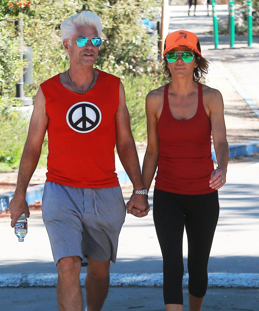 Exclusive... Lisa Rinna & Harry Hamlin Out For A Hike