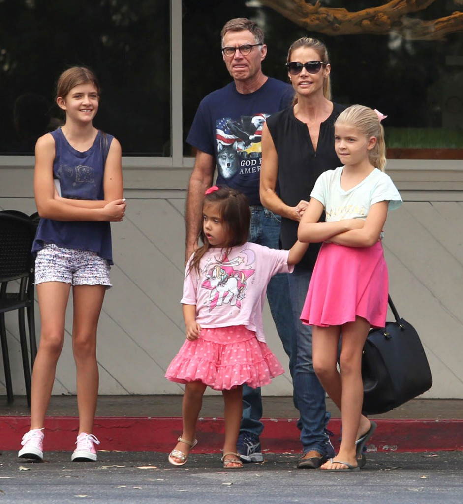 Denise Richards Takes Her Family Out For Lunch