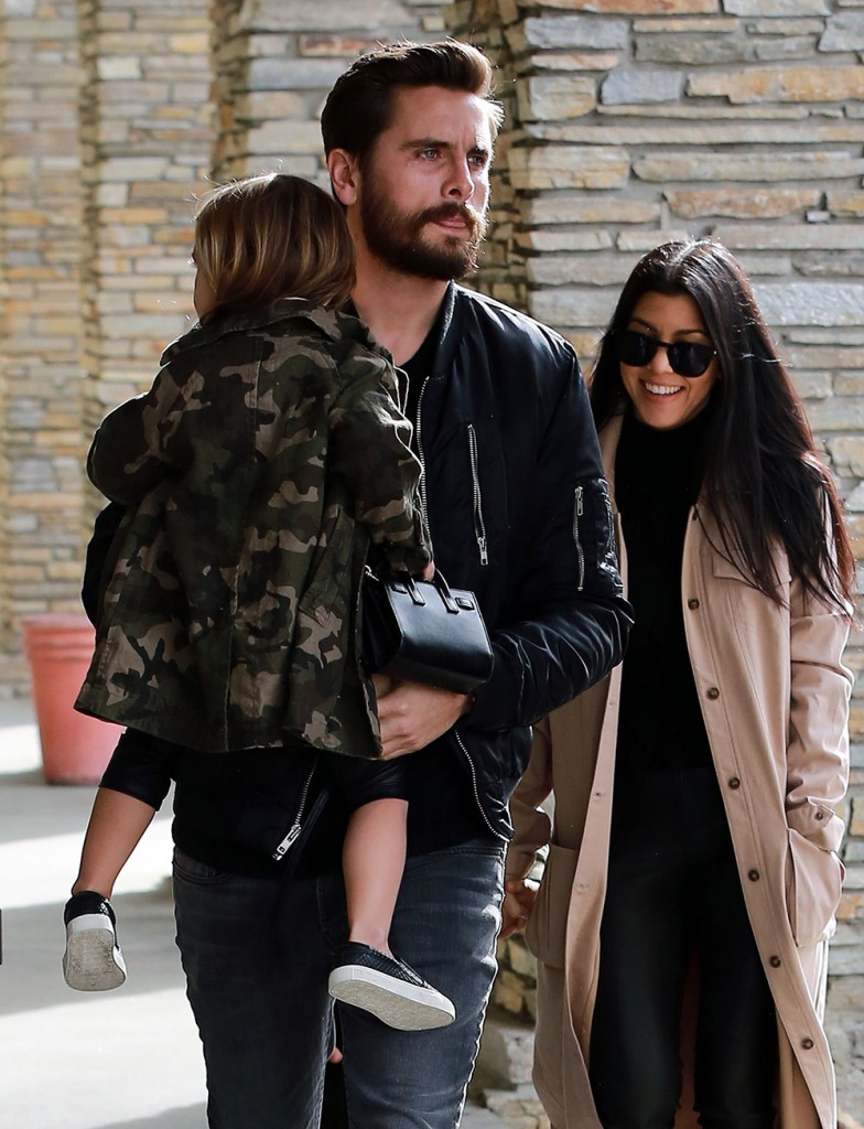 Kourtney Kardashian And Scott Disick Take Their Kids To The Movies