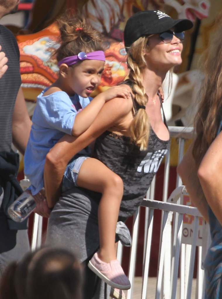 Denise Richards Takes Her Kids To The Fair In Malibu