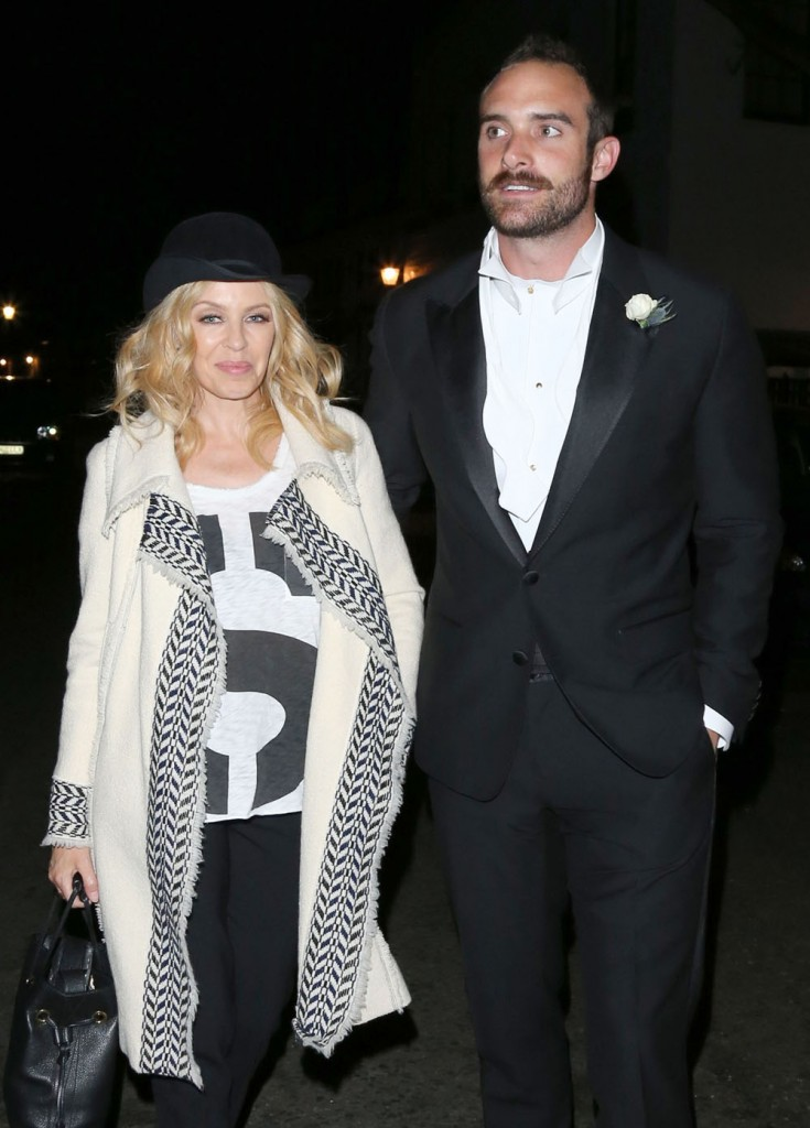 Kylie Minogue & Joshua Sasse Enjoy A Night Out In London