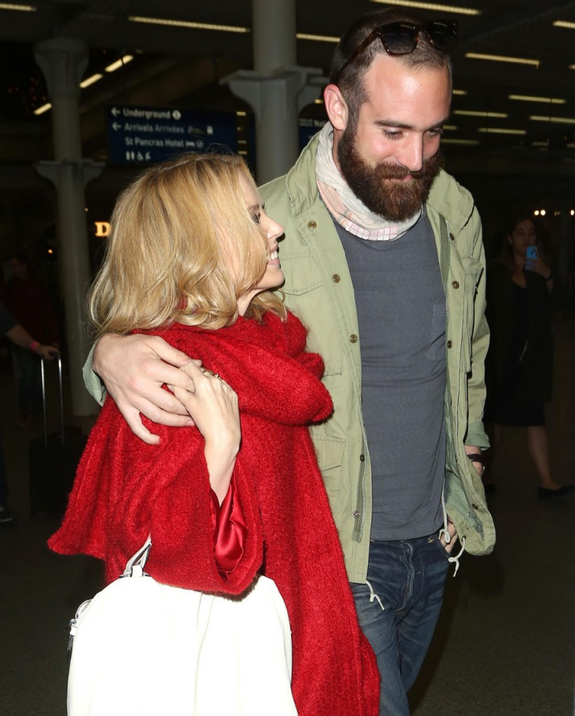 Kylie Minogue and Joshua Sasse London