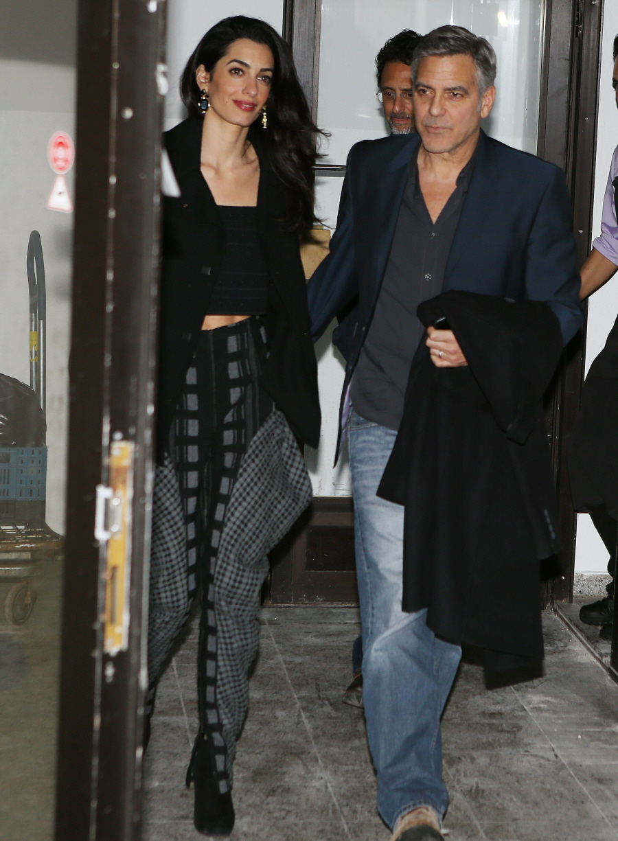 Amal Clooney wore Hammer pants for her Berlin date-night with George