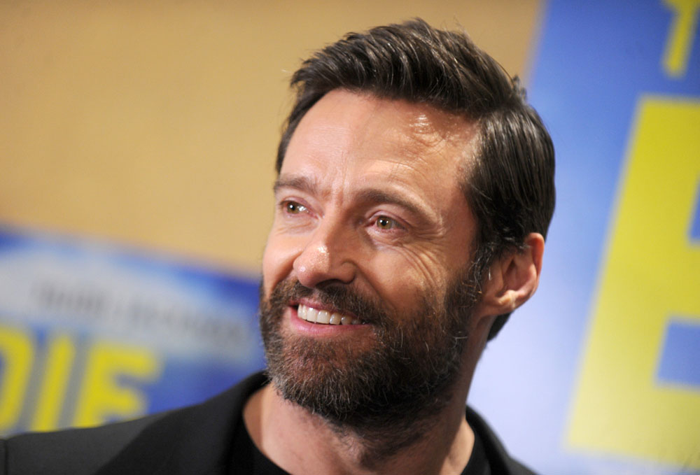 Hugh Jackman attends the 'Eddie The Eagle' New York screening at Chelsea Bow Tie Cinemas in NYC