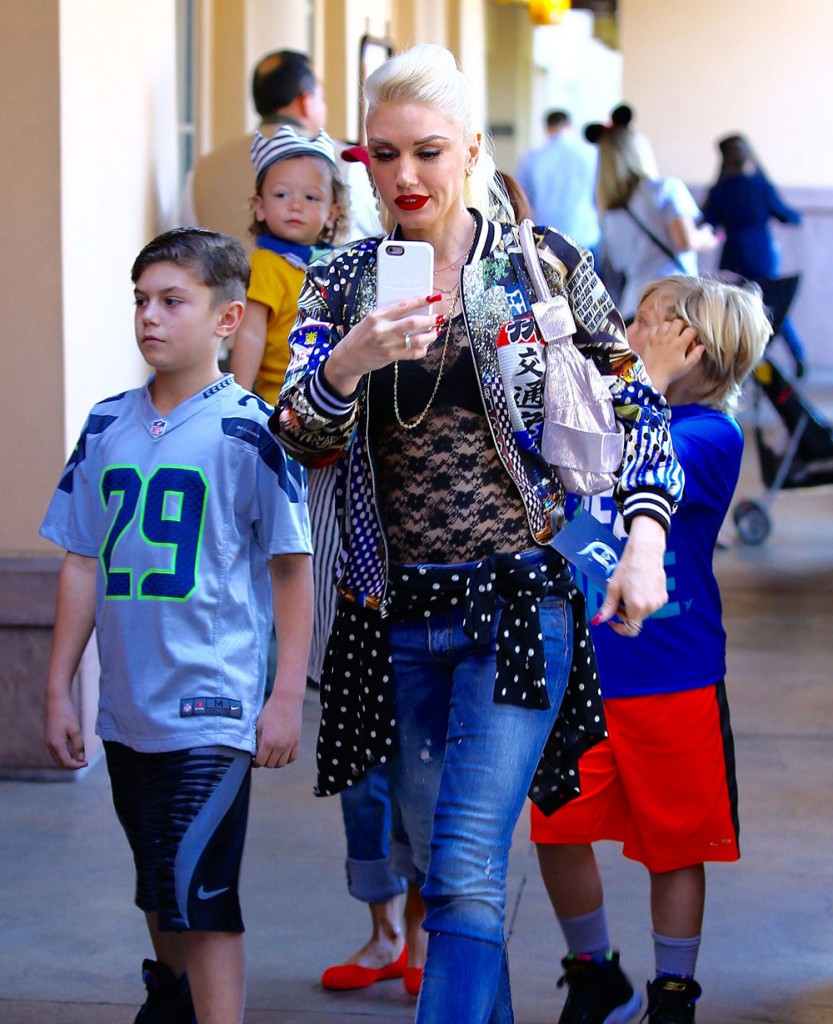 Gwen Stefani Takes Her Boys To Disneyland