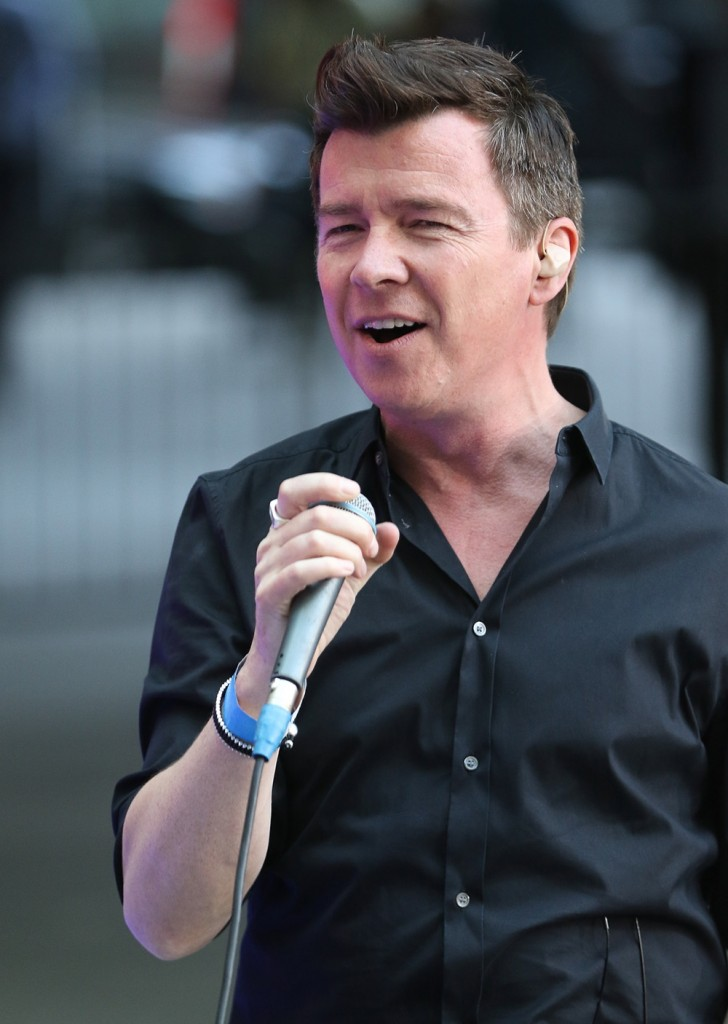 Rick Astley rehearses ahead of The One Show performance
