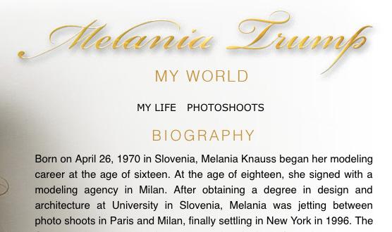 melania website