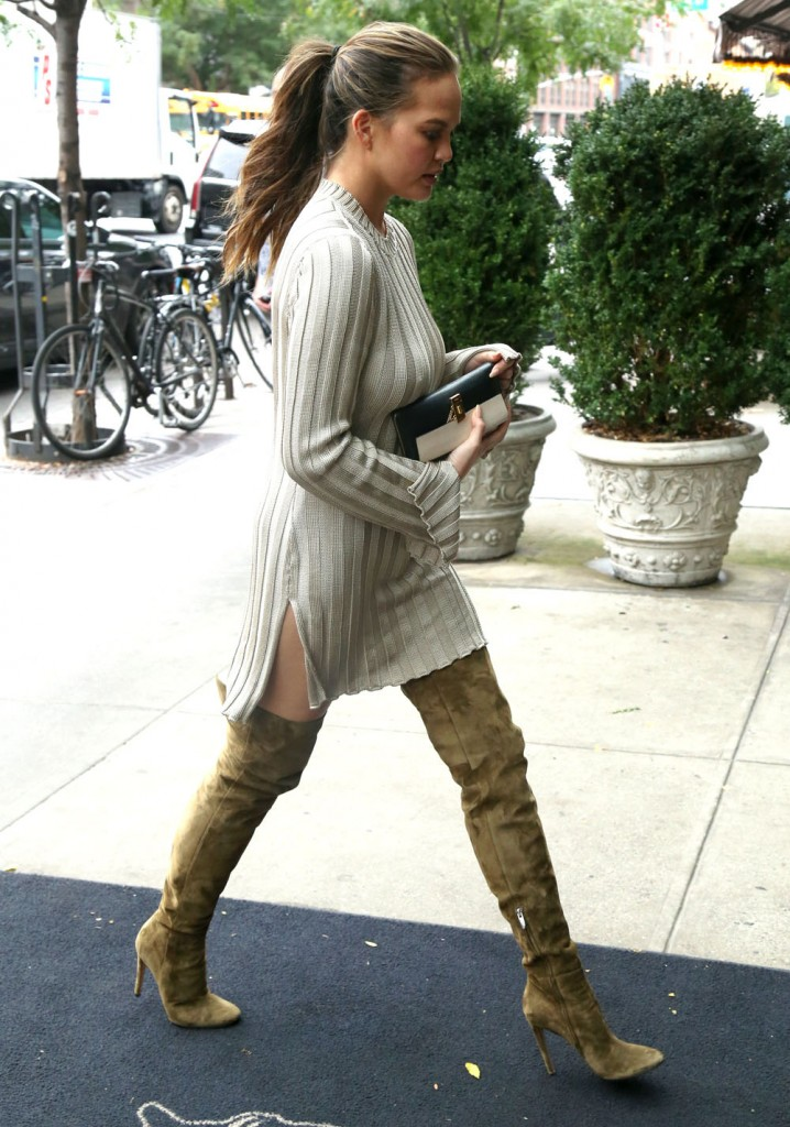 Chrissy Teigen & John Legend Out And About In nYC