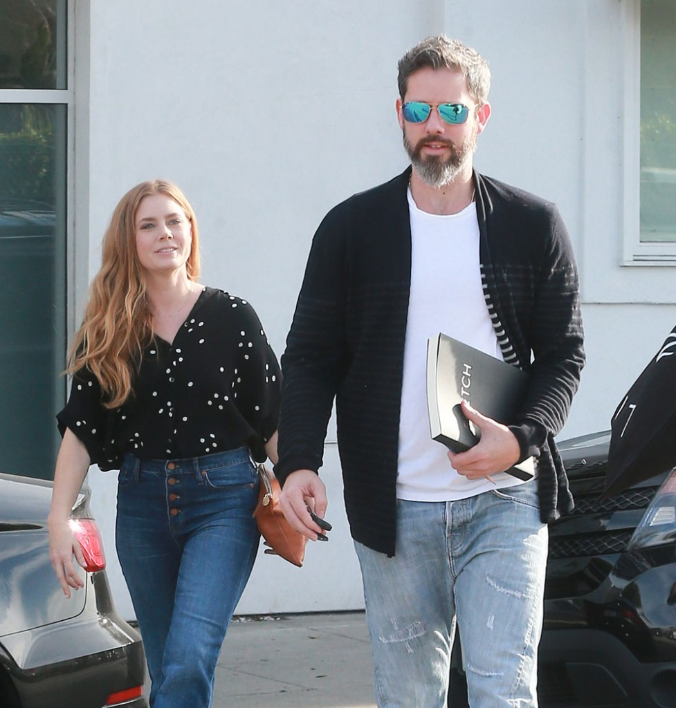 Amy Adams Leaves A Hair Salon In Beverly Hills