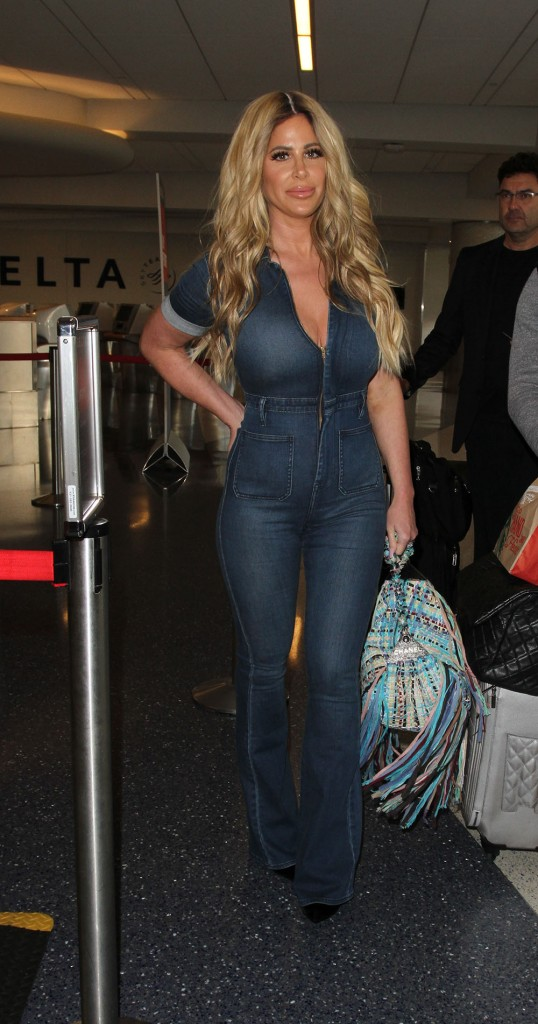 Kim Zolciak and her daughter, Brielle Biermann, depart from Los Angeles International Airport (LAX)