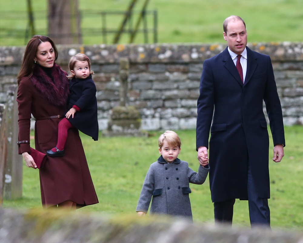 wenn30653615  bitchy | The Cambridges & the Middletons did a church photo-op for Christmas wenn30653615