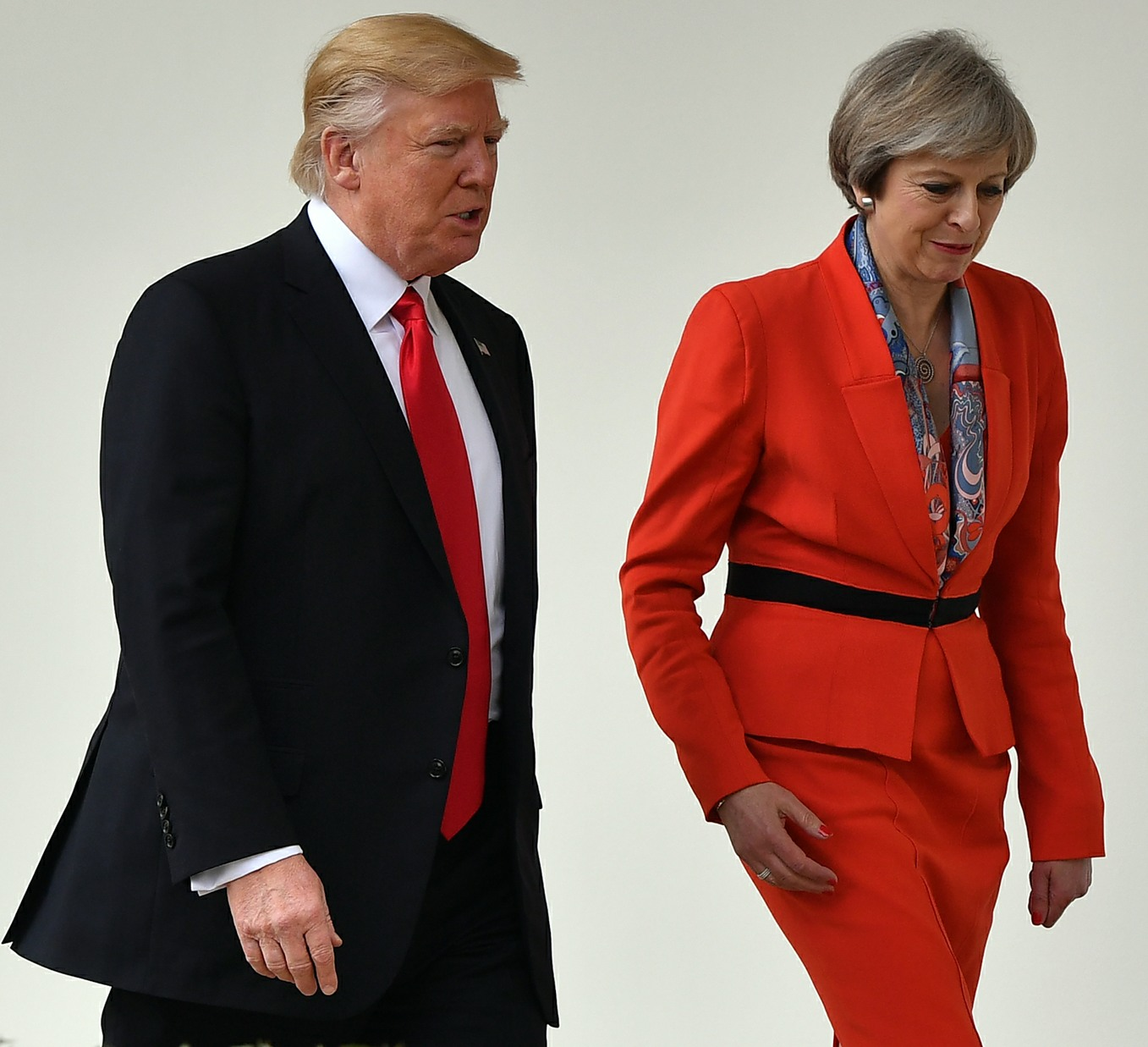 Theresa May USA visit Day Two  bitchy | Donald Trump will throw a tantrum if he's required to satisfy Prince Charles 161346PCN Theresa TrumpPHT046