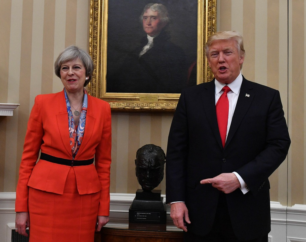 Theresa May USA visit Day Two  bitchy | Donald Trump will throw a tantrum if he's required to satisfy Prince Charles 161346PCN Theresa TrumpPHT073