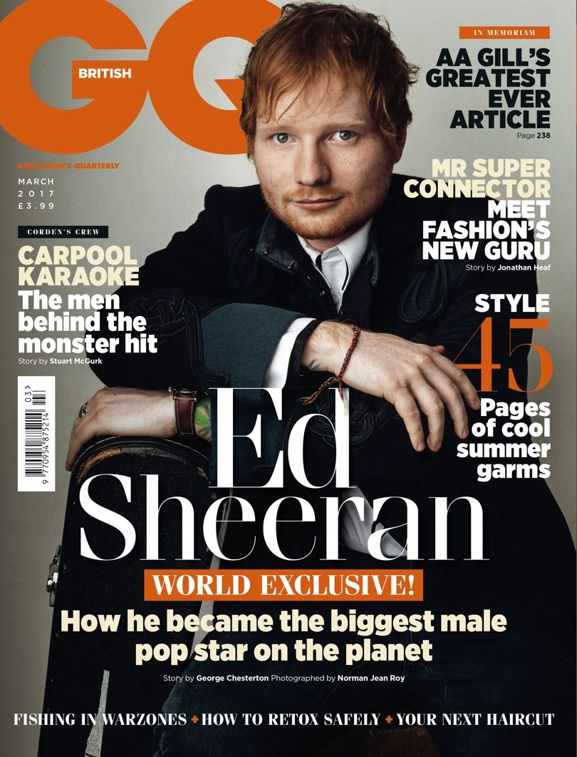 Ed GQ  bitchy | White man Ed Sheeran believes he & Taylor Swift are each 'underdogs' Ed GQ
